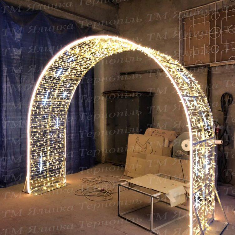 Новорічна світлова арка