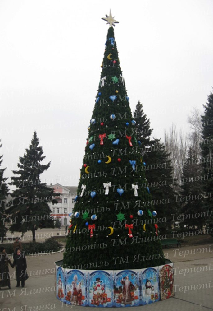 Каркасна вулична ялинка 10м , Хвоя-Сосна , м.Харцизьк