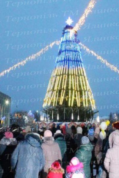 Ялинка штучена з 3D освітленням прапору України