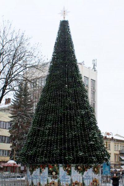 Вулична ялинка 18м , Хвоя-Сосна, м.Івано-Франківськ