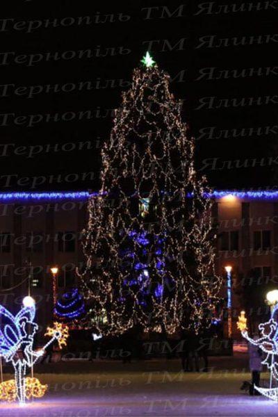 Главная городская елка Уличное освещения для елки