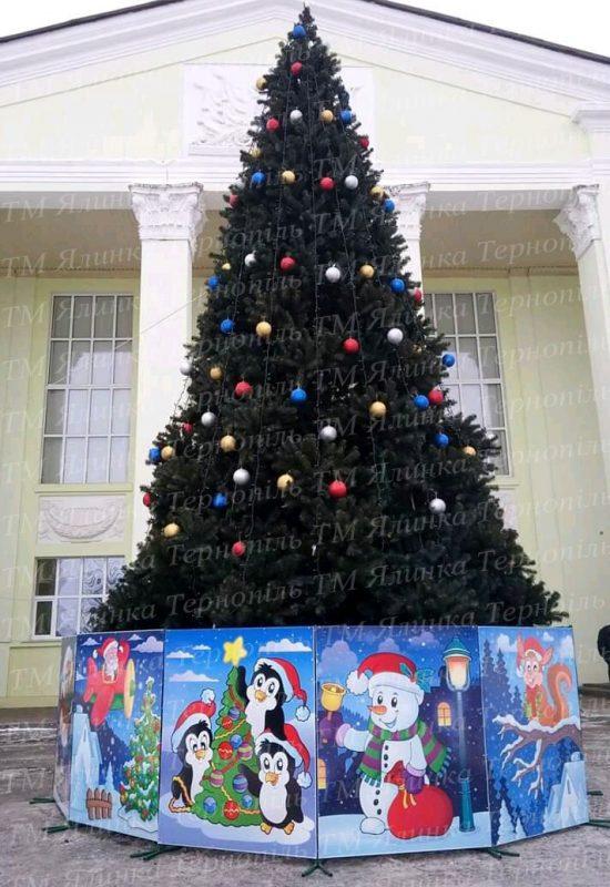 Большая уличная елка для города 12м