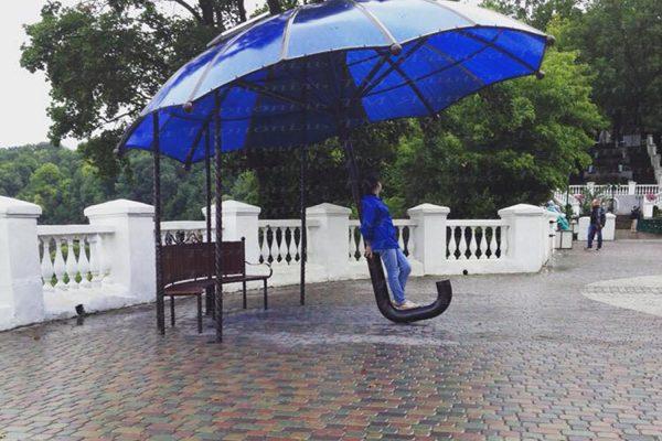 Купити фотозону синя парасолька