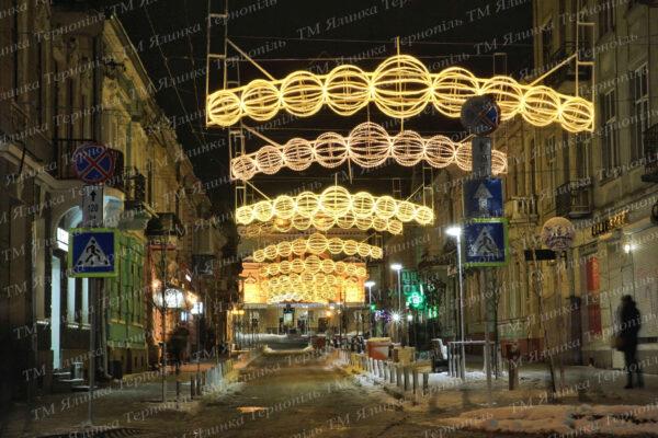 Уличное освещения перетяжка куля