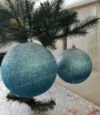 Пластиковая куля с переливанием белая на елку