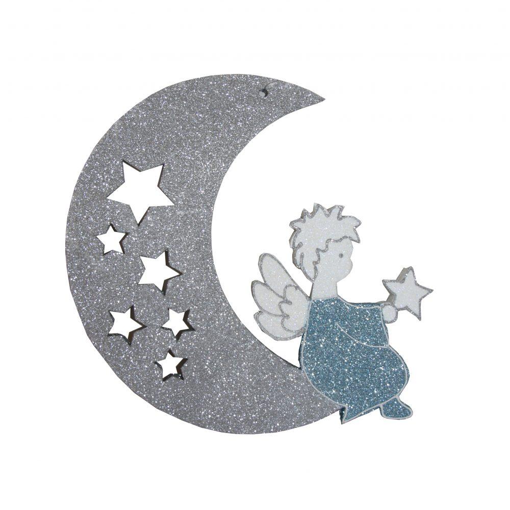 Игрушка на елку ангел на луне