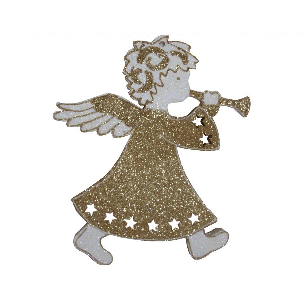 Игрушка на елку ангел с инструментом