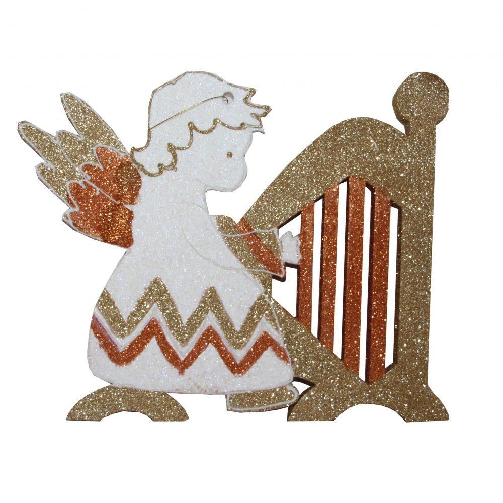 Игрушка на елку ангел с инструментом 5