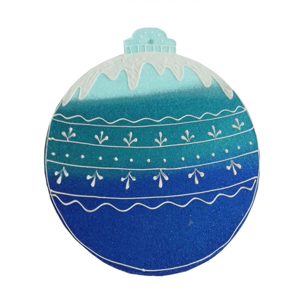 Игрушка на елку куля синяя