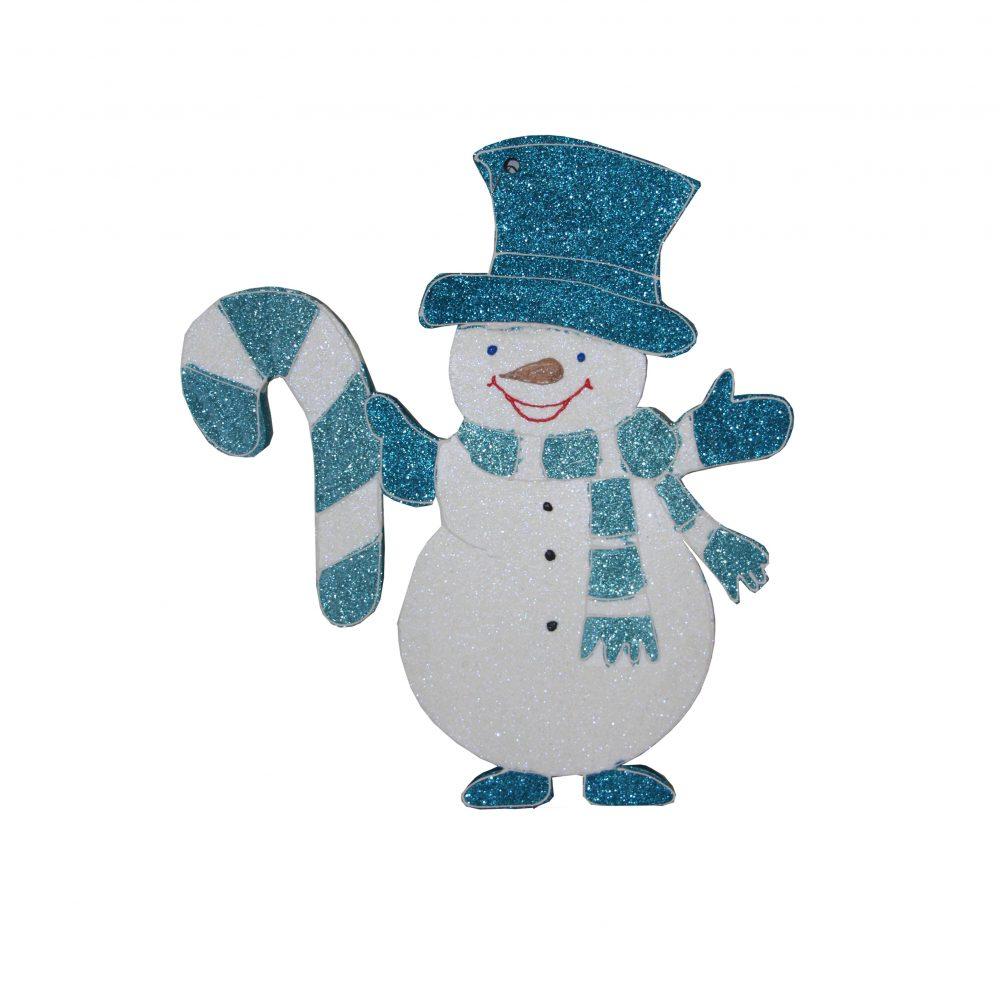 Игрушка на елку снеговик 3