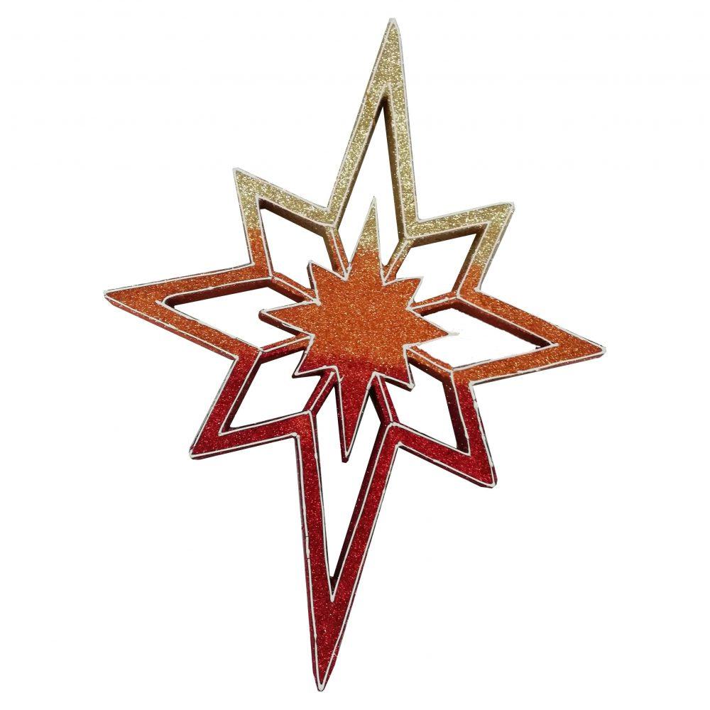 Игрушка на елку звезда 2