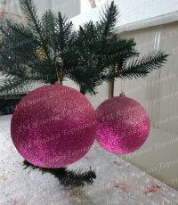 Пластиковая куля с переливанием рожевий