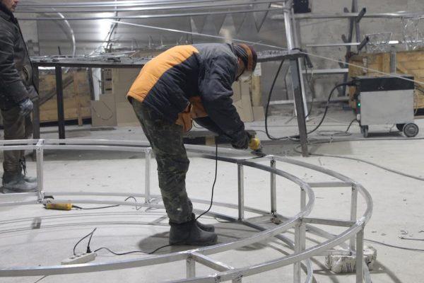 Шлифования метталических конструкций