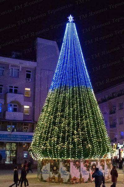 Ствольная елка 18м г.Ивано-Франковск